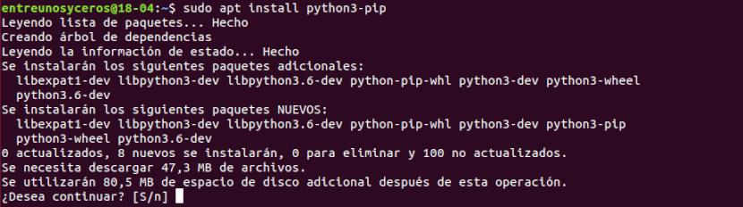 instalación de python3-pip