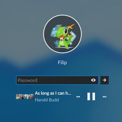 Música en la pantalla de bloqueo