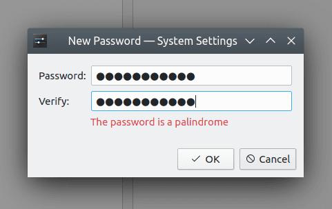 mensaje de contraseña mala de KDE