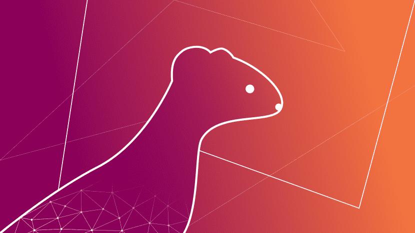Uno de los fondos de pantalla de Ubuntu 19.10