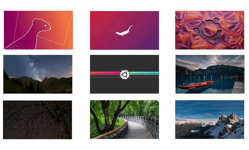 Fondos ganadores de Ubuntu 19.10