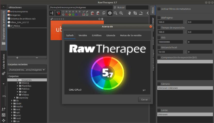 about RawTherapee 5.7