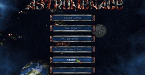 astromenace menú