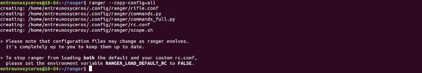 copiando archivos de configuración Ranger