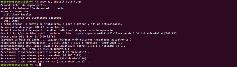 instalación util-linux
