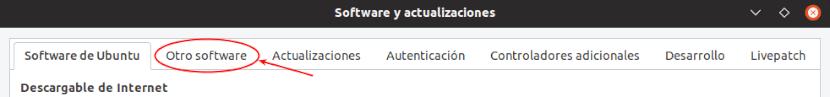 quitar el ppa software y actualizaciones