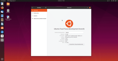 Daily Build de Ubuntu 20.04 Focal Fossa