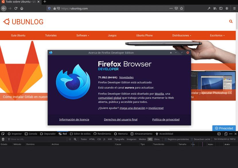 Firefox WebSocket Inspector