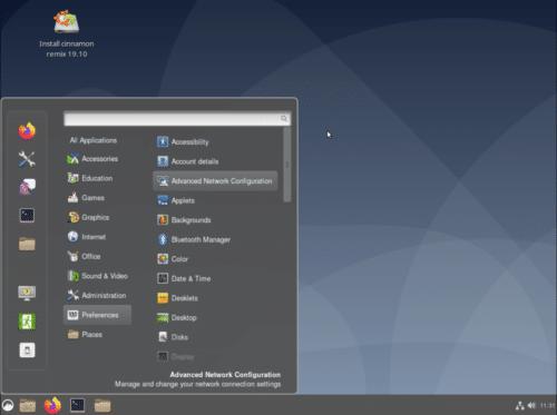 Lanzador de aplicaciones de Ubuntu Cinnamon