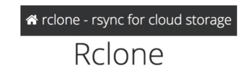 Rclone sync cloud