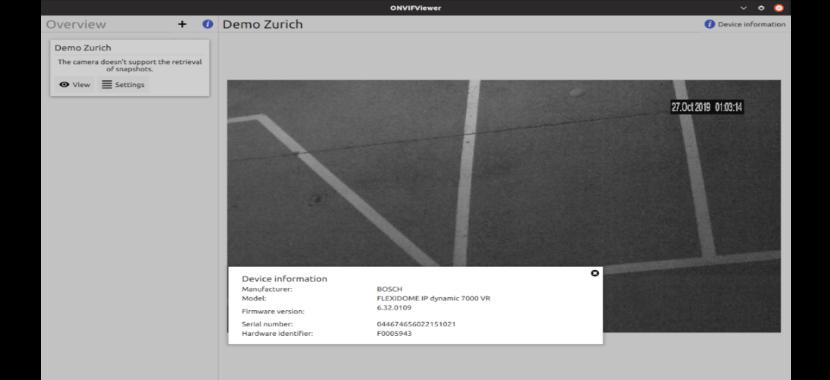 cámara zurich ONVIFViewer