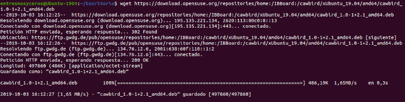 descargar .deb para Ubuntu 19.04