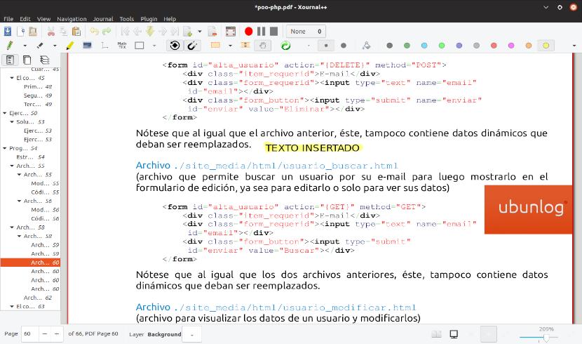 pdf abierto con xournal++