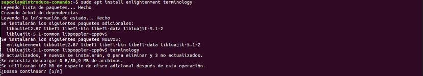 terminology instalación desde ppa