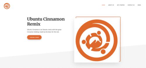 Página web de Ubuntu Cinnamon Remix