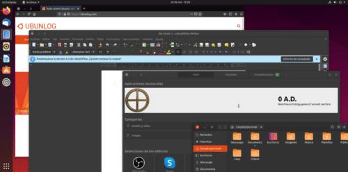Ubuntu 19.10 en modo oscuro