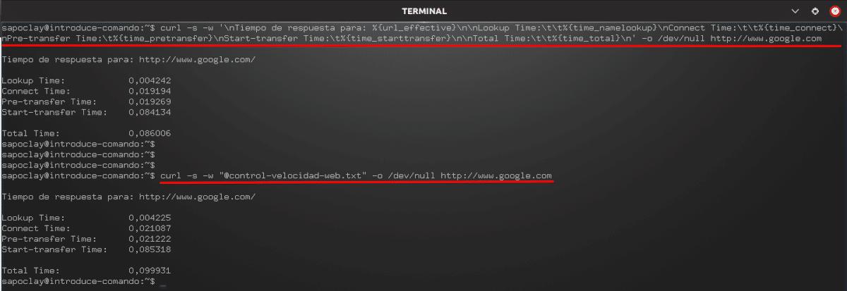 control de velocidad de una web http