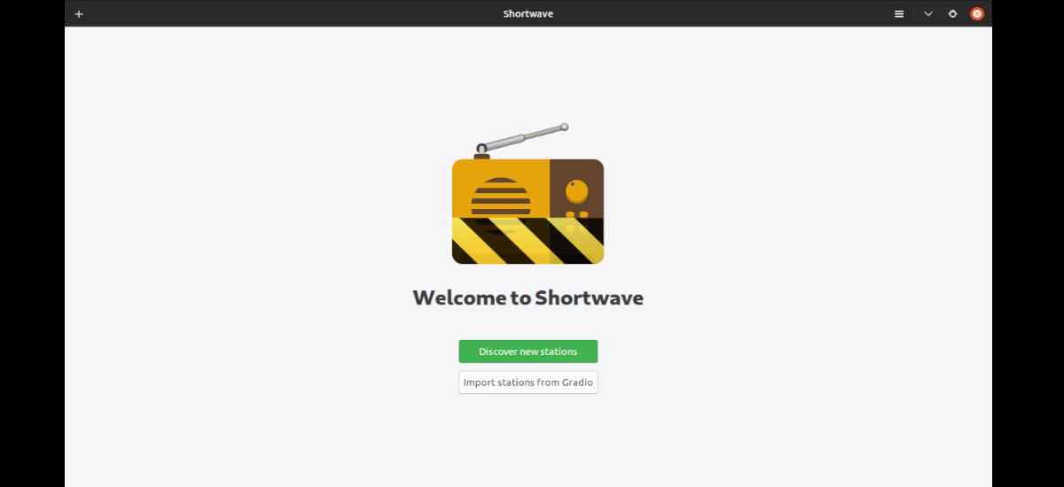 pantalla de inicio Shortwave