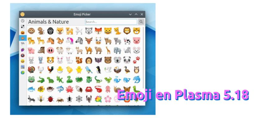 Emoji en Plasma 5.18