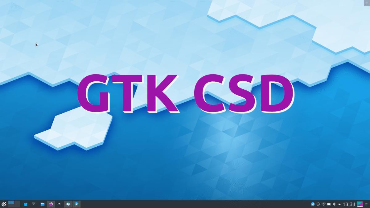 GTK CSD en KDE