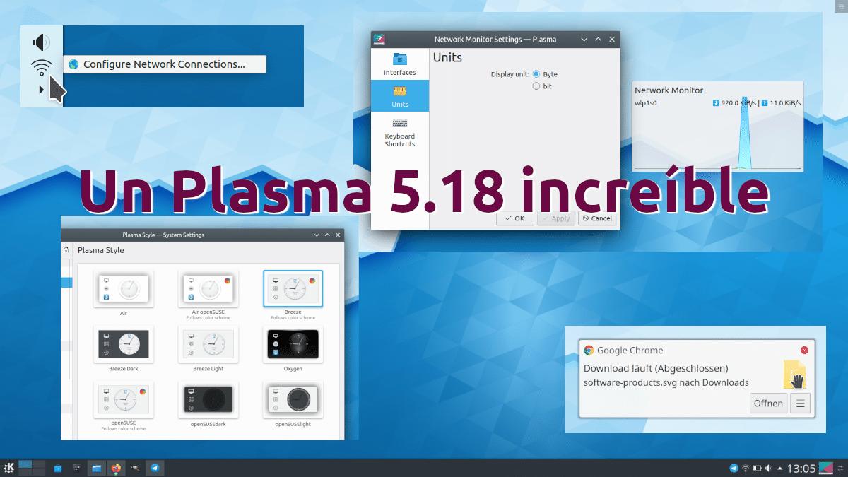 Plasma 5.18 será increíble
