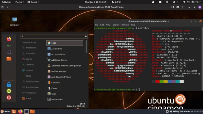 Ubuntu Cinnamon 19.10