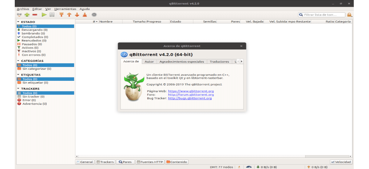 about qBittorrent 4.2