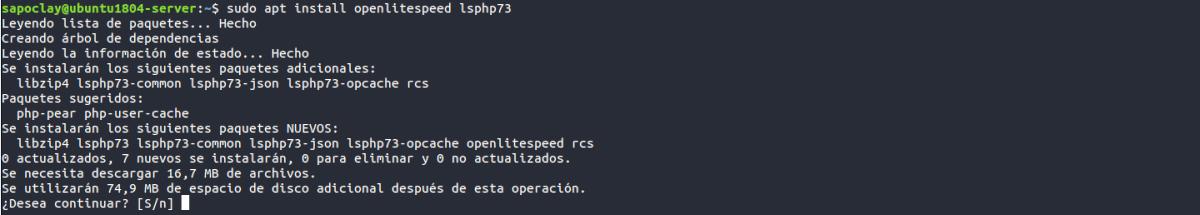 instalación OpenLiteSpeed