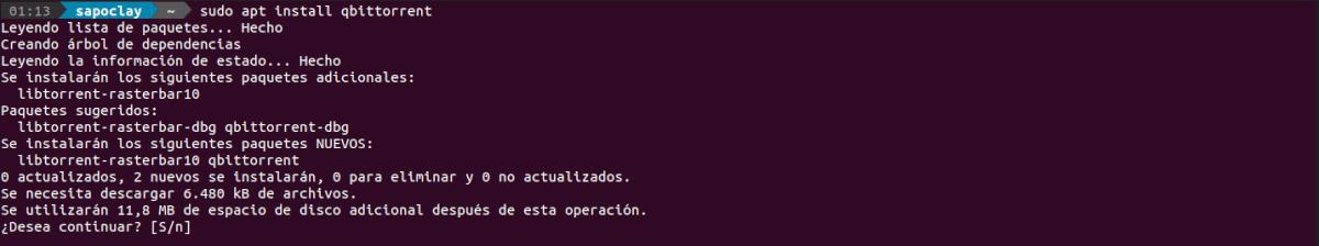 instalando qbittorrent 4.2