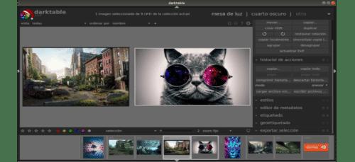opciones y acciones sobre las imágenes