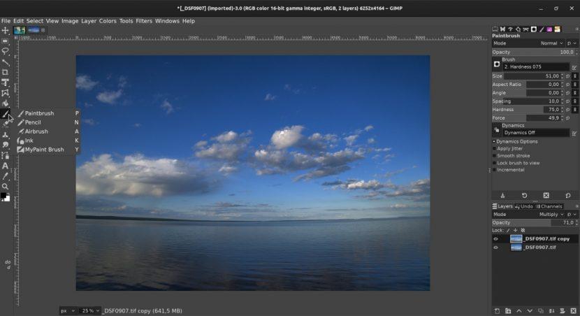 GIMP se parecerá más a Photoshop