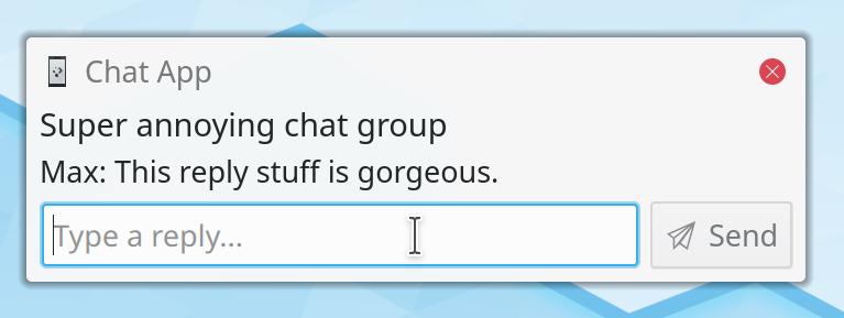 Notificaciones que permiten responder mensajes