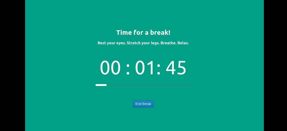 un descanso con breaktimer
