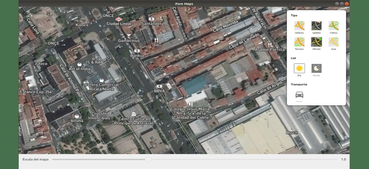 mapa satelite