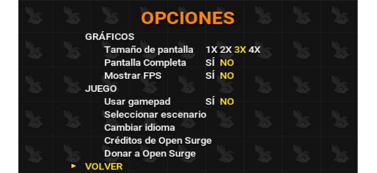 opciones disponibles de open surge
