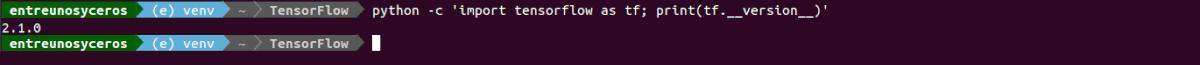 versión instalada de tensorflow