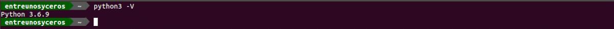 versión de Python instalada