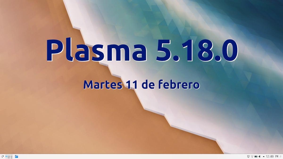 Plasma 5.18.0 llega el 11 de febrero