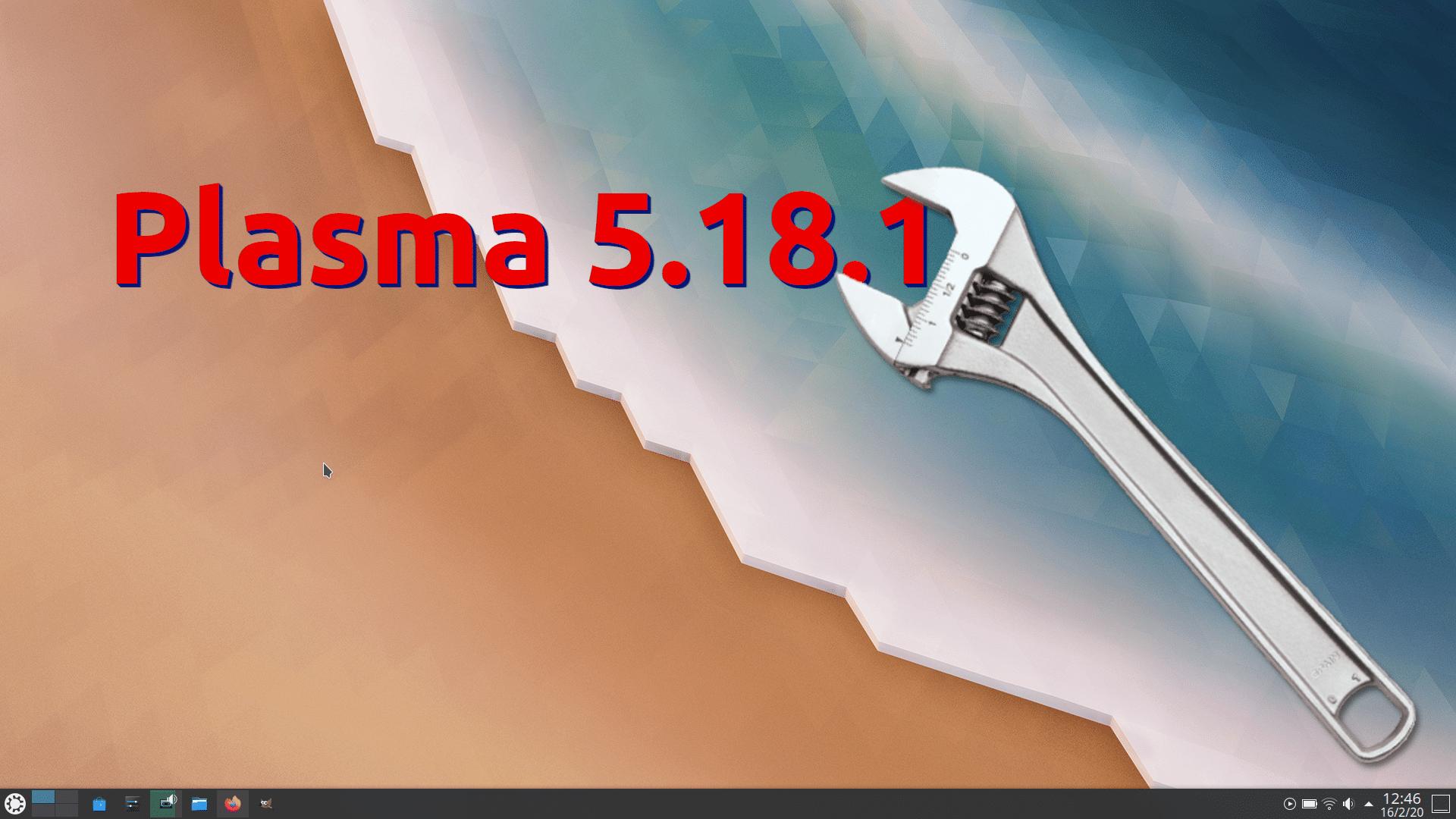 Plasma 5.18.1 corregirá muchos fallos