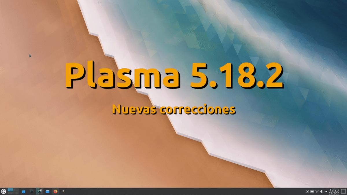 Plasma 5.18.2 el próximo martes