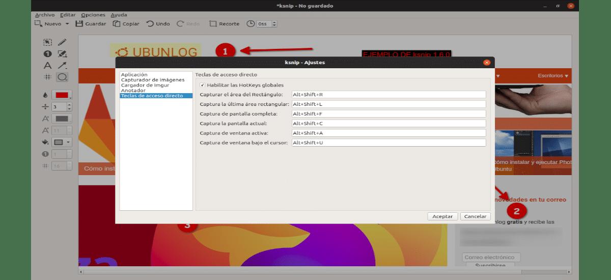 ajustes de ksnip 1.6.1