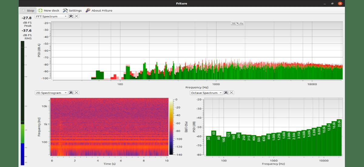Friture Audio Analyzer funcionando