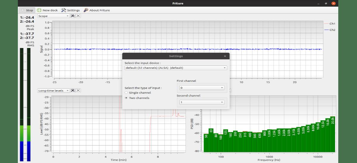 settings de Friture Audio Analyzer