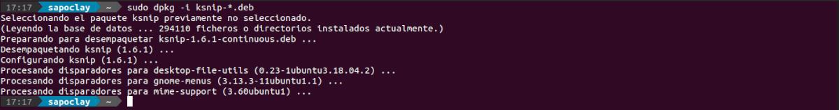 ksnip 1.6.1 instalación .deb