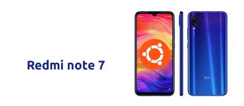 Redmi note 7 con Ubuntu Phone
