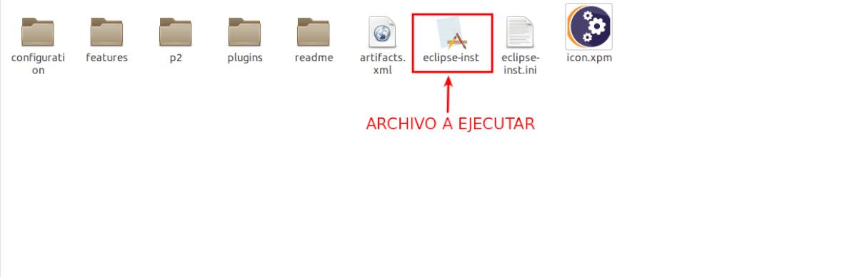 archivo para ejecutar el instalador