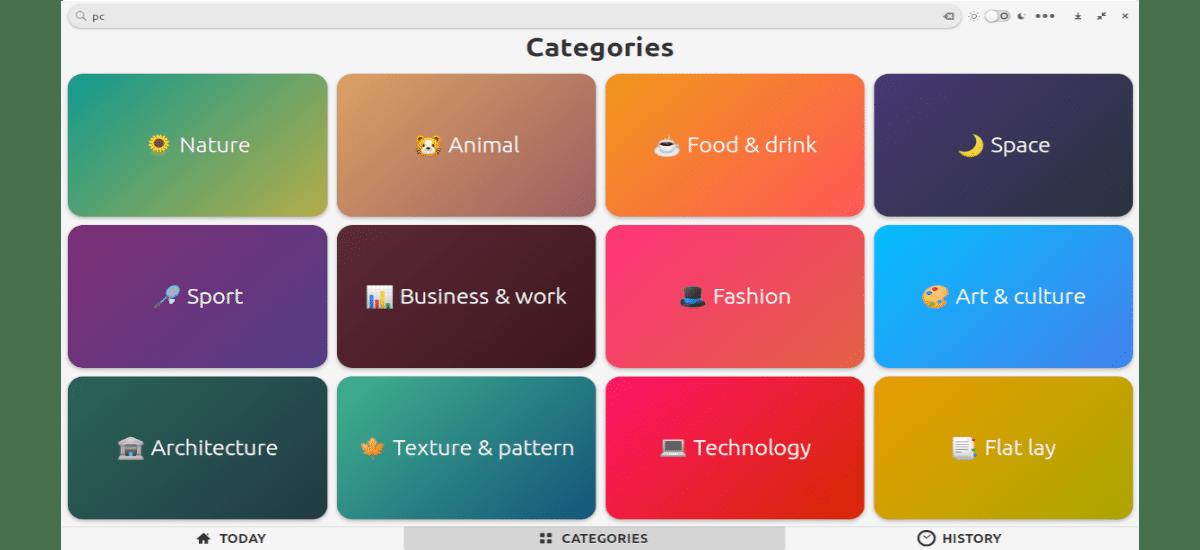 categorías disponibles en Fondo