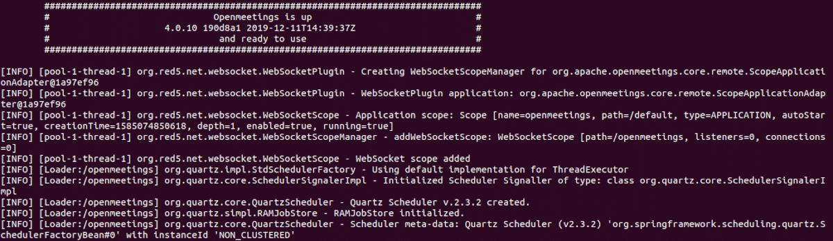 ejecutar el servidor OpenMeetings