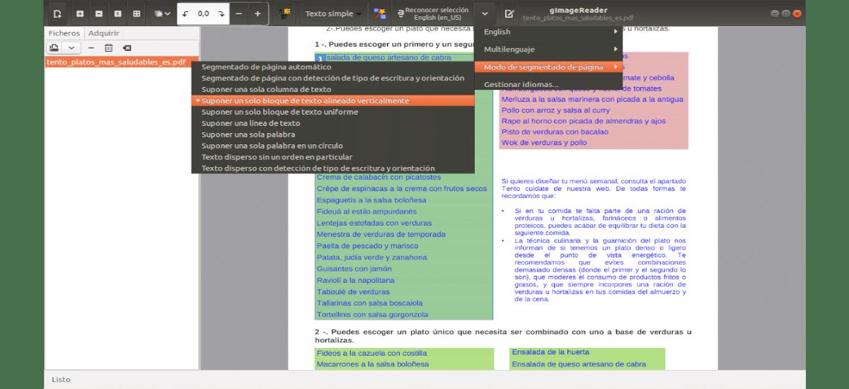 aplicación funcionando con un pdf