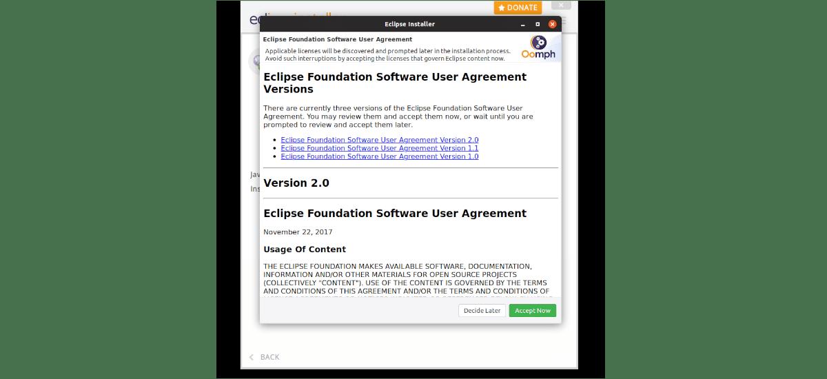 licencia Eclipse